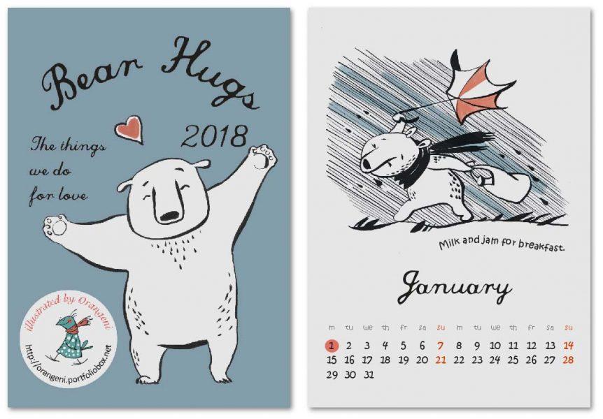 Bear Hugs Calendar cover