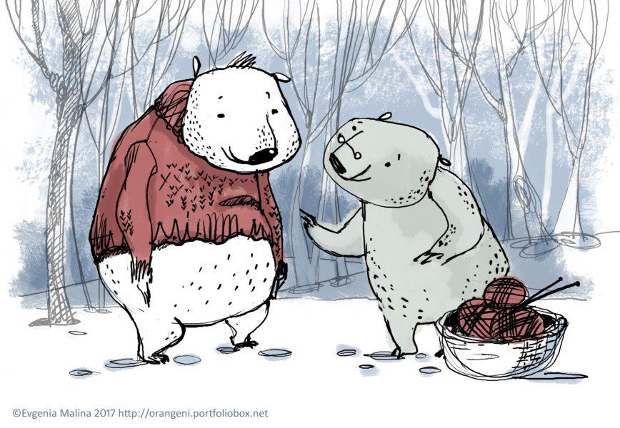 Bears christmas card