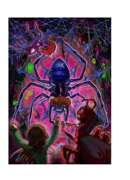 Dottie meets the spiders