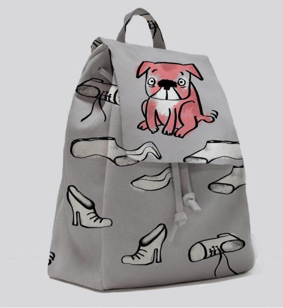 Guilty Pups patten on a bag
