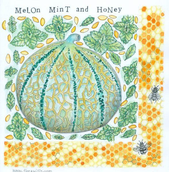 melon mint and honey