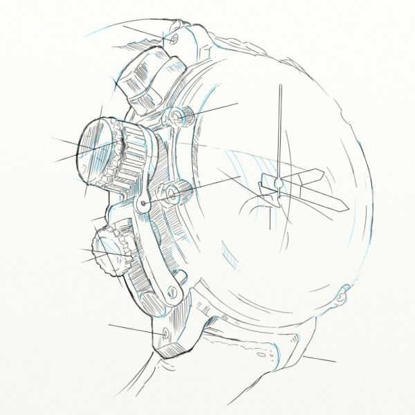 Sketch (detail of a watch)
