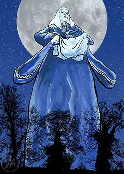 The Legend of Moll Walbee (Welsh folklore). www.jennieanderson.co.uk