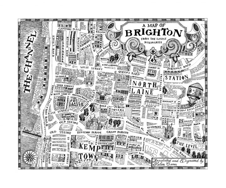 A map of Brighton from the Latest Discoveries - art republic72