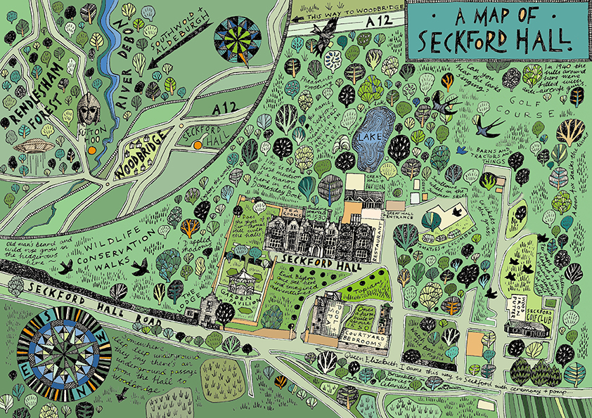 Map of Seckford Hall Hotel