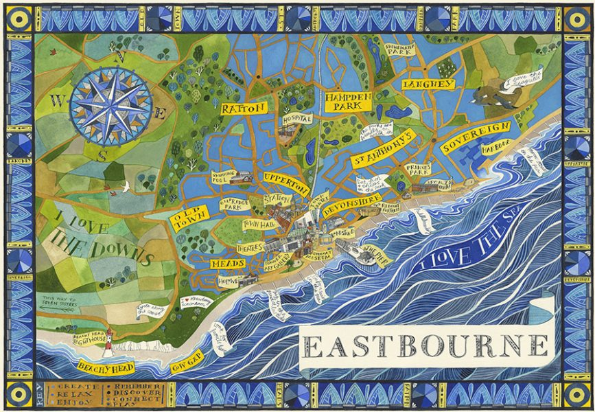 A map of Eastbourne - Towner Art Gallery
