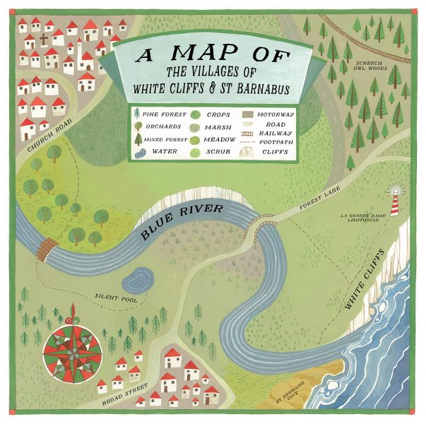 A map of White Cliffs and St Barnabus