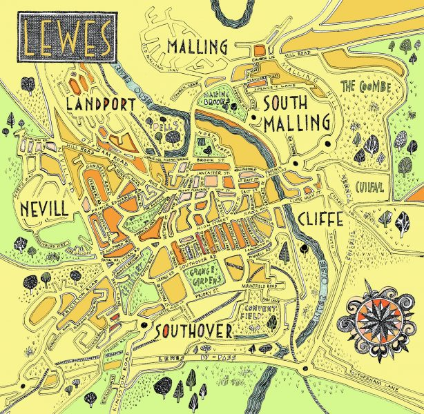 A Map of Lewes. - The University of Sussex..