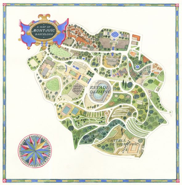 A Map of Montjuic