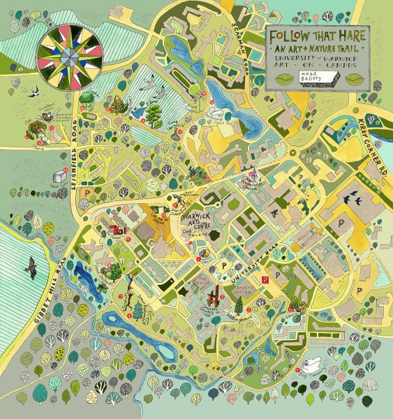 The Mead Gallery, Warwick Arts Centre - Follow That Hare map