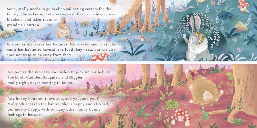 Funny Bunny Feelings page spread