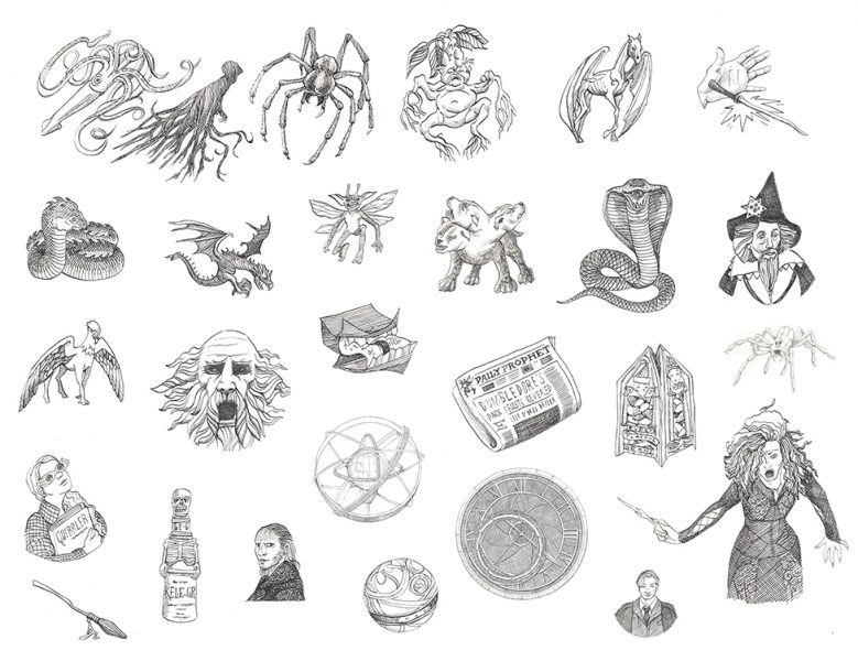 Icons for 'The Marauders' Map Guide to Hogwarts' - Scholastic/Warner Brothers