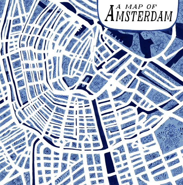 A map of Amsterdam.