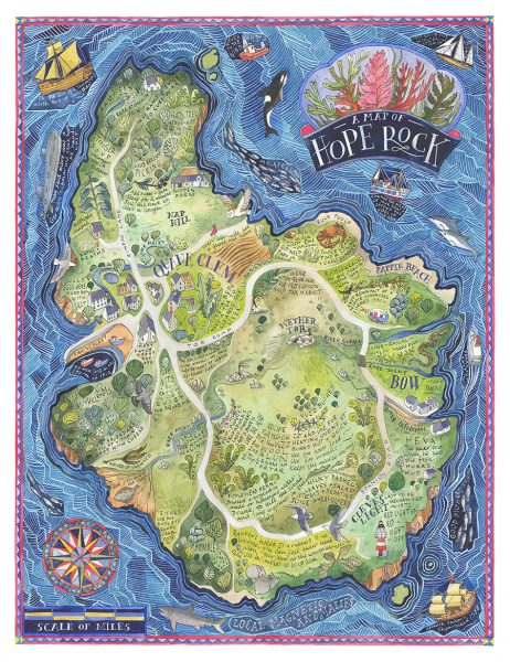 A Map of Hope Rock- Thames and Hudson (for 'Archipelago - An Atlas of Imagined Islands')