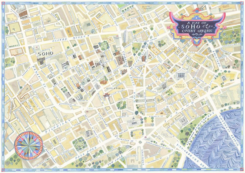 A Map of Soho and Covent Garden
