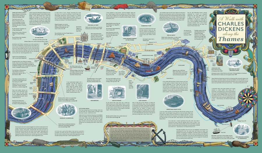 A Walk along the Thames with Charles Dickens- The Literary Map Co.
