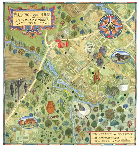 The Highwayrobber Trail Map - Mead Gallery, Warwick Arts Centre
