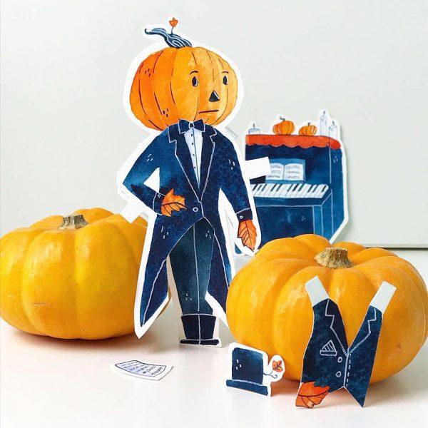 Pumpkin Paperdoll