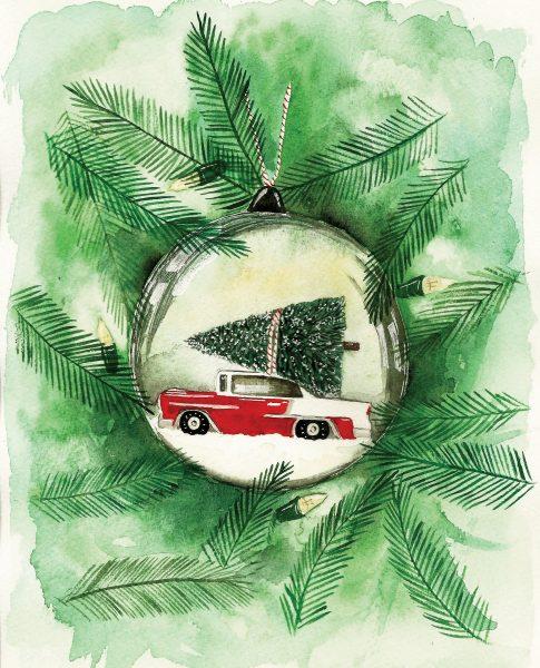 7 CHRISTMAS CAR BAUBLE