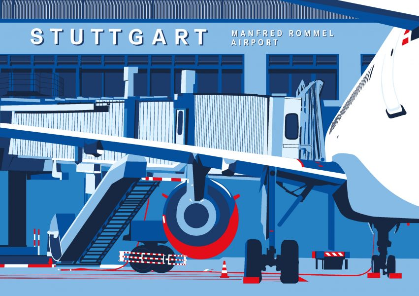 Airport Stuttgart Illustration 3