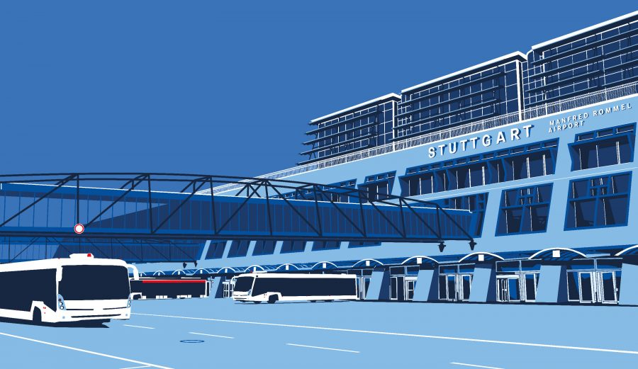 Airport Stuttgart Illustration 1