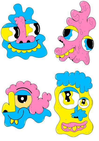 Doodle blobs