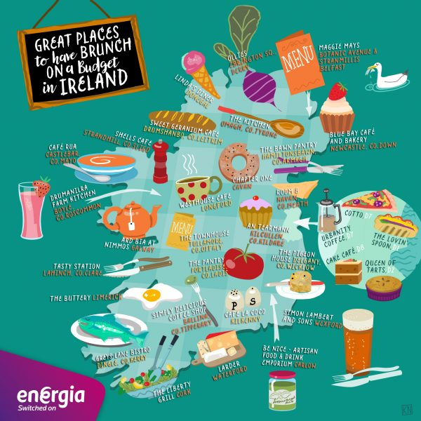 Places to Brunch Map of Ireland