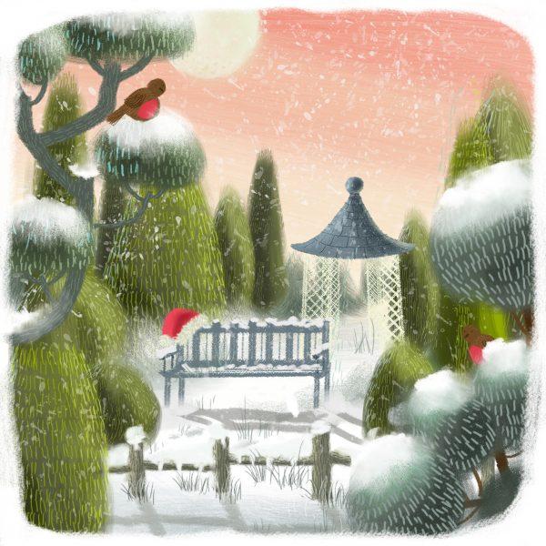 Winter retreat to the garden