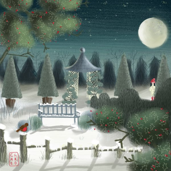 Girl in the night garden
