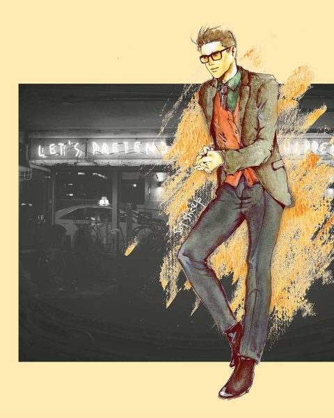 Fashion Illustration: a dapper man