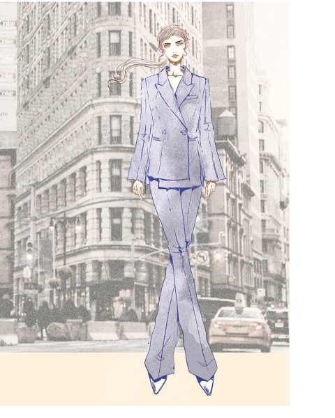 Fashion Illustration: ADEAM Suit