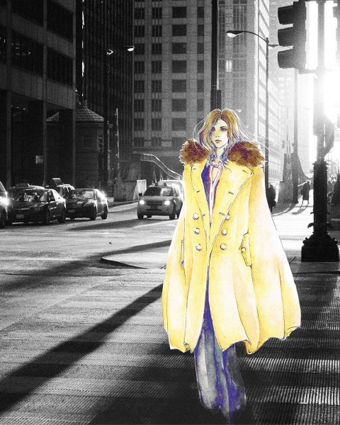 Fashion Illustration Trench Coat