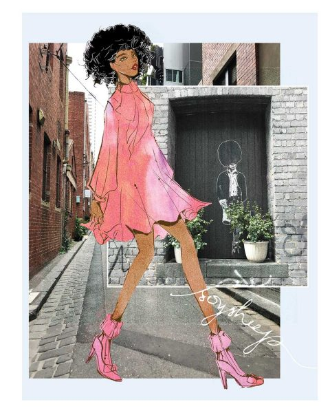 Fashion Illustration: Valentino Girl