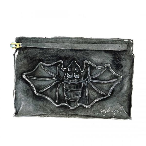Product Illustration: LOEWE Bat T-Pouch