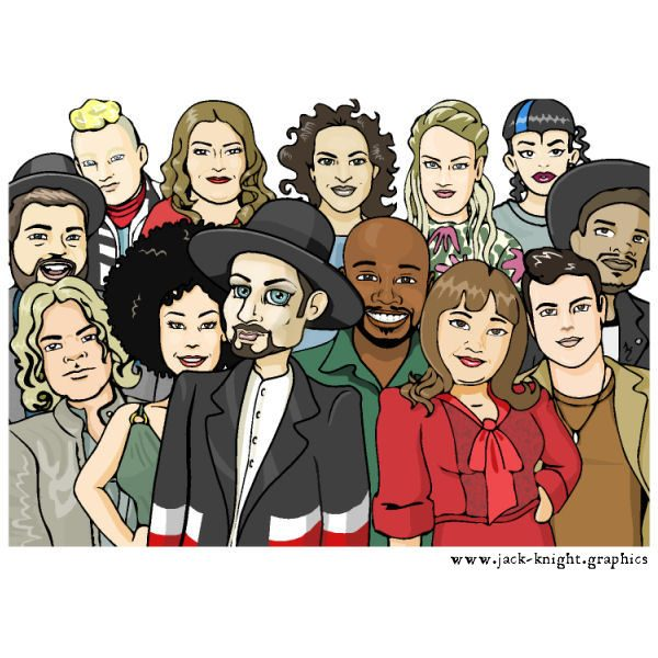 Boy George and Voice Contestants
