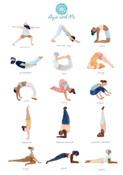 Yoga Poses Poster