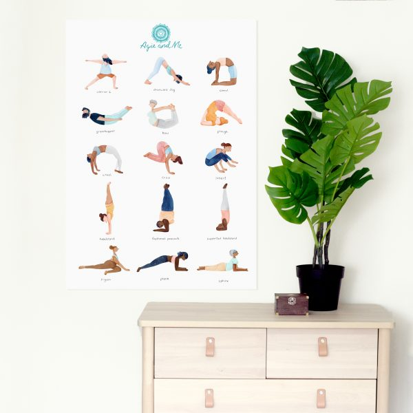Agie and Me Yoga Poster