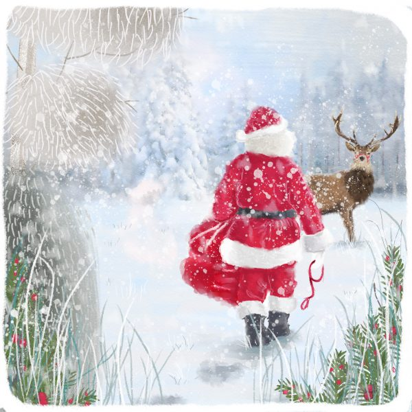 Father Christmas and Rudolph