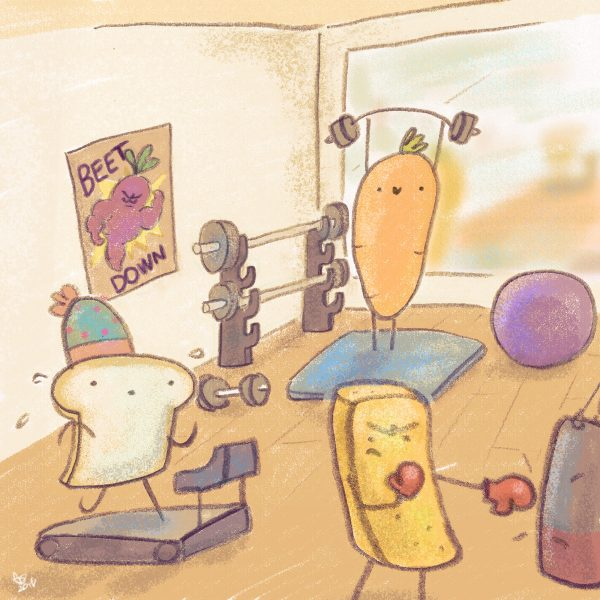 Carrot & Toast at the gym