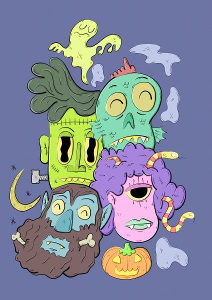 Spooky heads.
