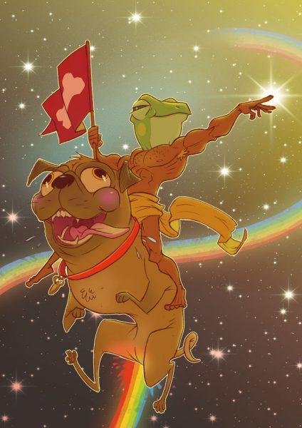 pug-and-frogman