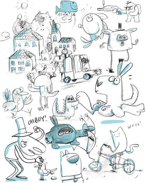 Sketchbook randomness