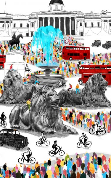 Trafalgar Square - AOI poster longlisted entry.