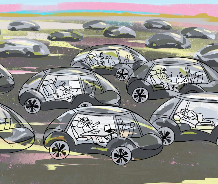 'Driverless Cars' Editorial commission for  The Psychologist Magazine
