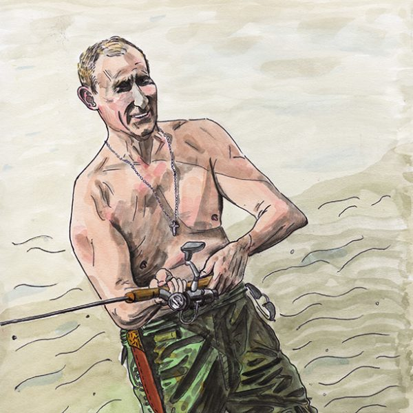 Putin Goes Fishing