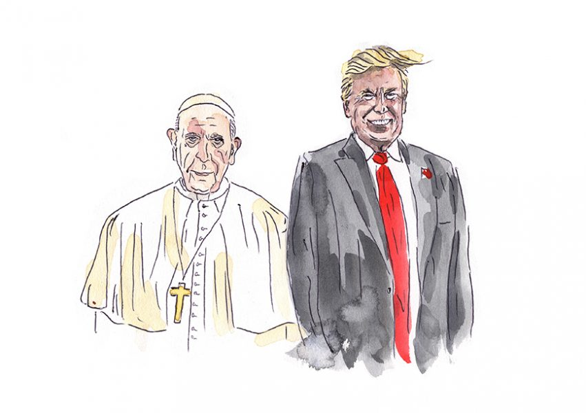 Trump + Pope = Party