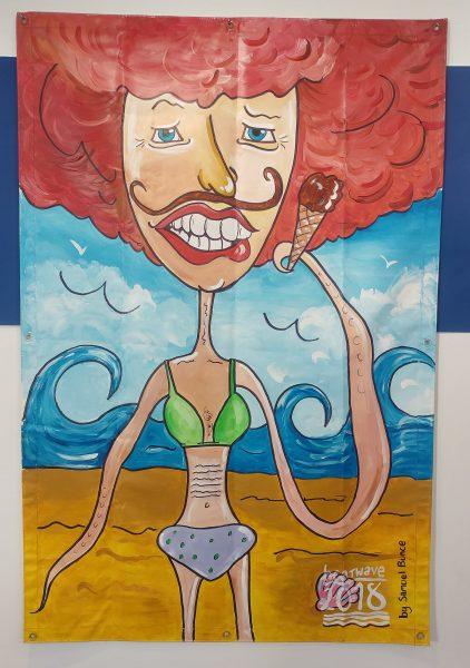 Gran at the Beach