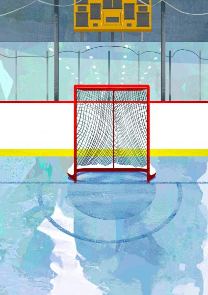 Hockey Book Illustration for Marlena Books