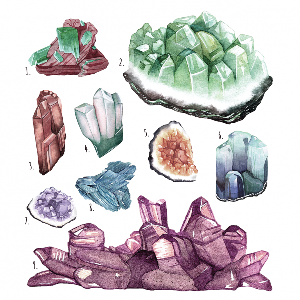 Crystal Mineral Geode Illustration