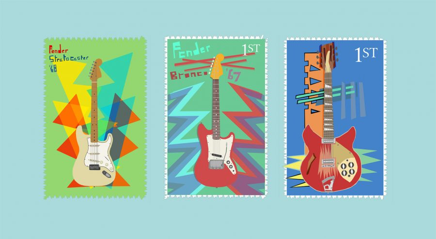 Guitar Stamps all together